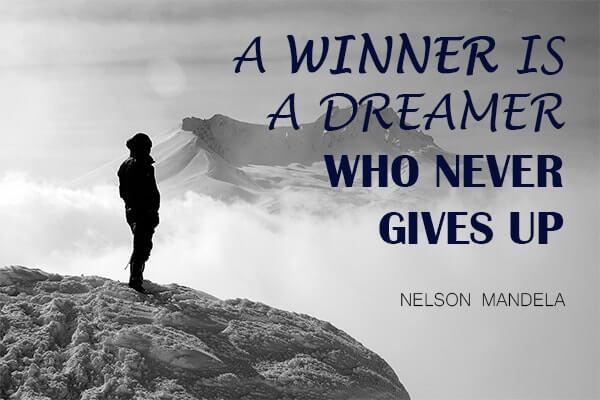 Zitat Motivation und Mindset Nelson Mandela
