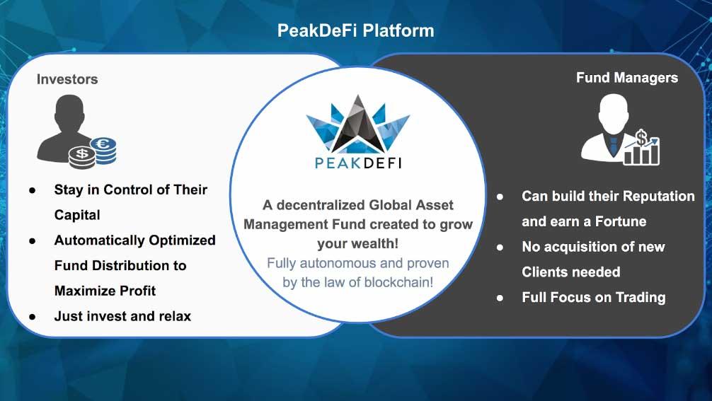 PEAKDEFI Platform Übersicht
